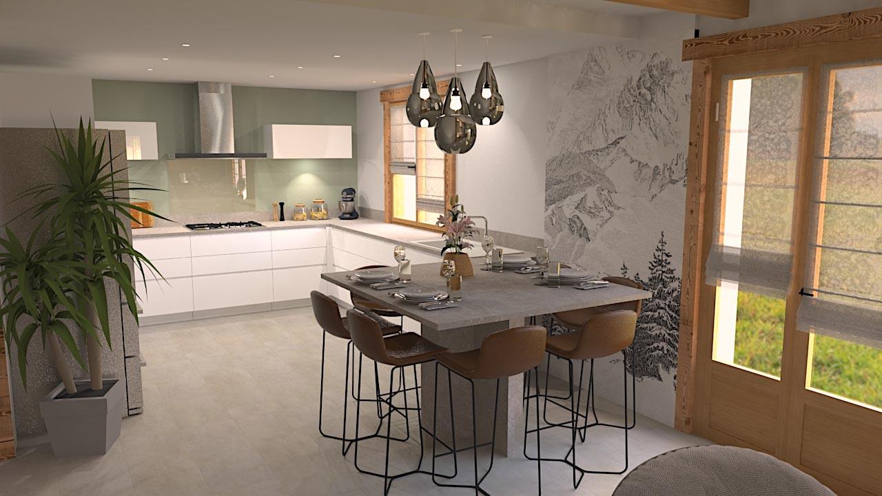 cuisine chalet LR Architectes