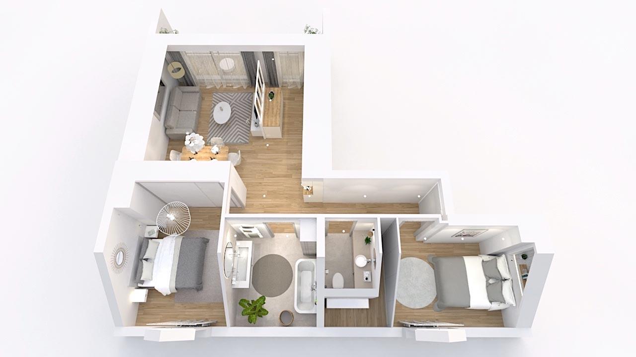 appartement sous comble image plan