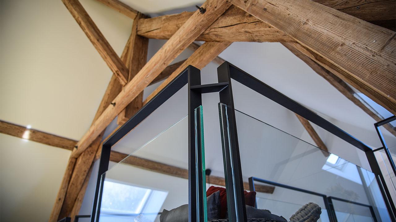 image garde corps mezzanine renovation de haut vol LR Architectes