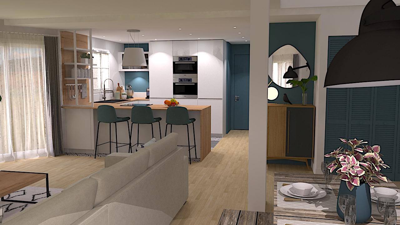 image cuisine un duplex à Montréal LR Architectes