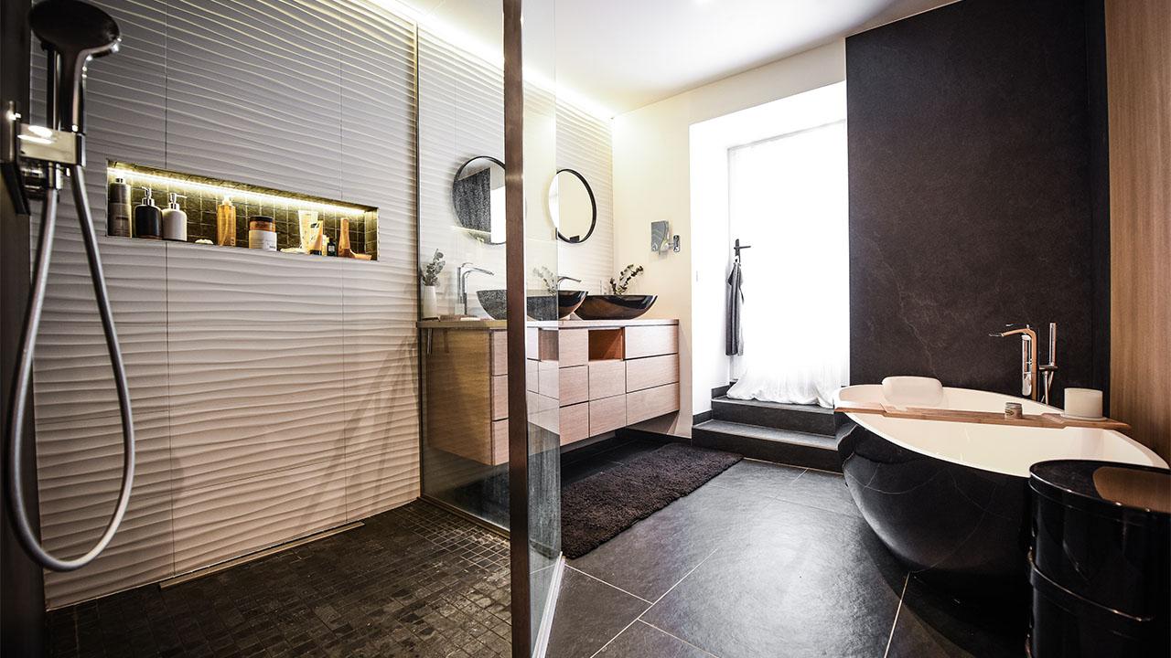 image salle de douche renovation de haut vol LR Architectes