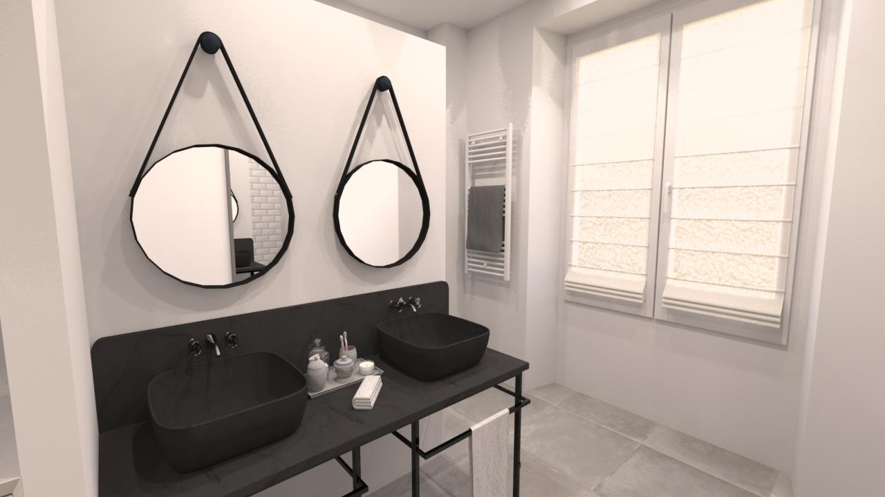 image salle de douche double vasque une demeure exceptionnelle