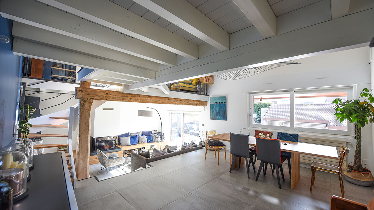 image salle à manger renovation de haut vol LR Architectes